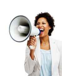 Woman-with-megaphone-10587921
