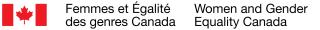 Logo fédéral - Ministère Femmes et égalité des genres Canada