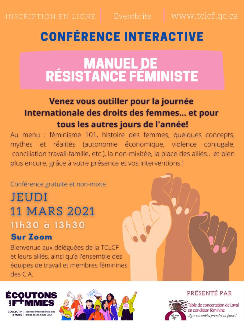 Activité 8 mars 2021 - affiche